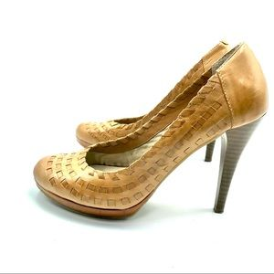 Andrew Geller Light Brown Heeled Shoes, Size 6 M